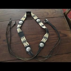 Accessories - Horn and concho leather belt